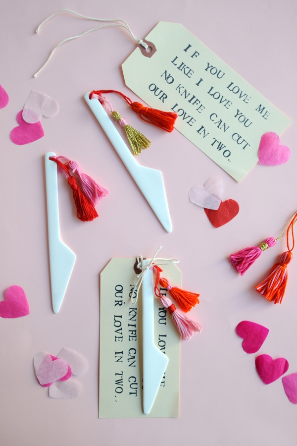 Valentine's Knife + Tassel DIY | Oh Happy Day!