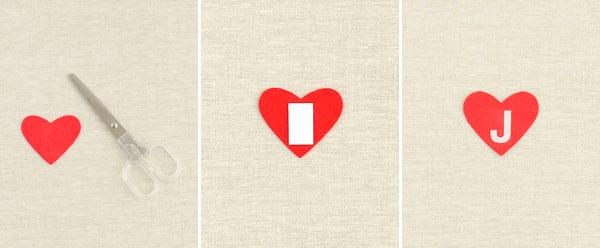 Personalized Felt Heart Muslin Bag DIY   Oh Happy Day!