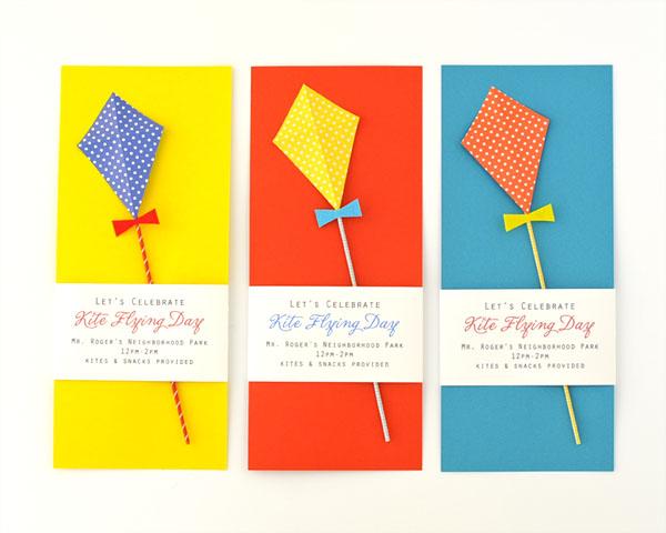 Kite Flying Day Party Invitation DIY – Diy Party Invites