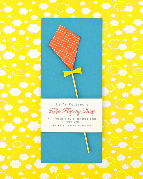 Kite Flying Day Party Invitation DIY   Oh Happy Day!