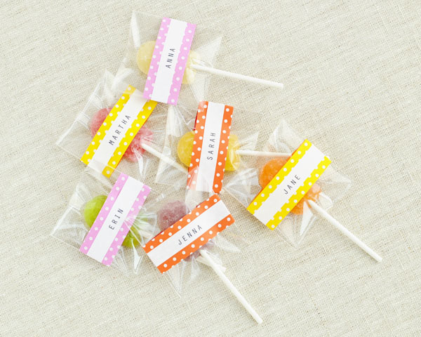 Polka Dot Lollipop Cover DIY   Oh Happy Day!