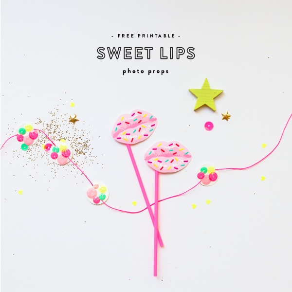 'Sweet Lips' Photo Props