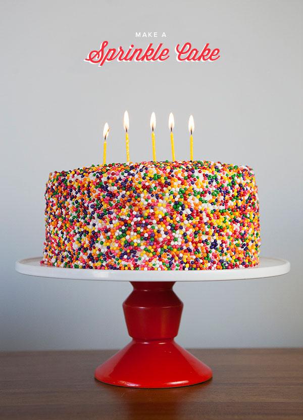 Sprinkle Cake DIY | Oh Happy Day!