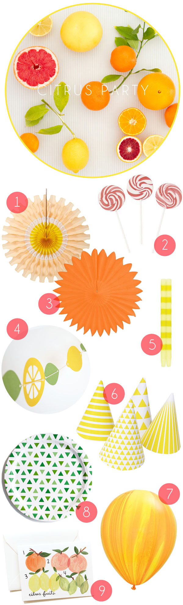 Citrus Party Supplies | Oh Happy Day!
