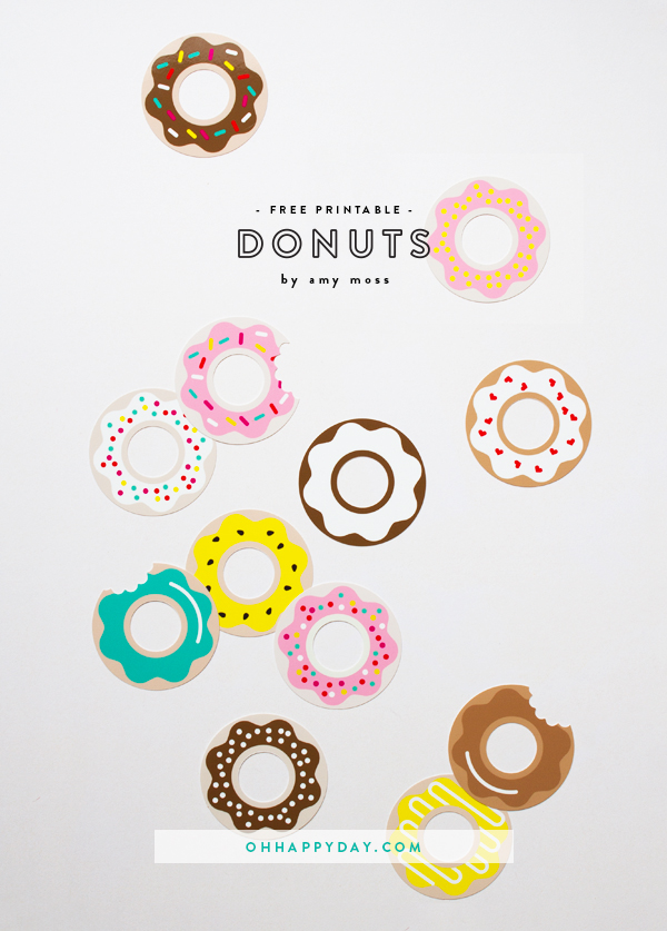 Free Donut Printables | Oh Happy Day!