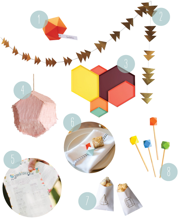 A Geometric Party | Oh Happy Day!
