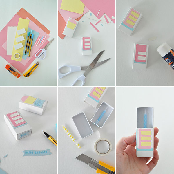Matchbox birthday card for Easy diy birthday gifts