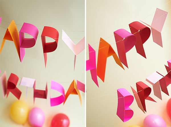 Origami Birthday Cake Template