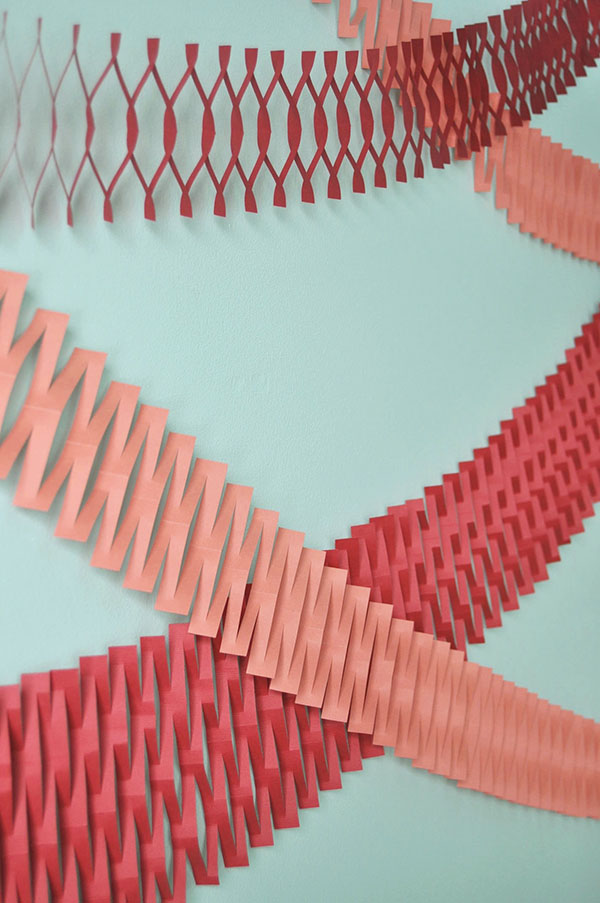 Paper Net Garland DIY | Oh Happy Day!