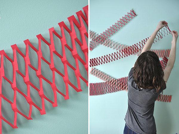 Paper Net Garland DIY   Oh Happy Day!