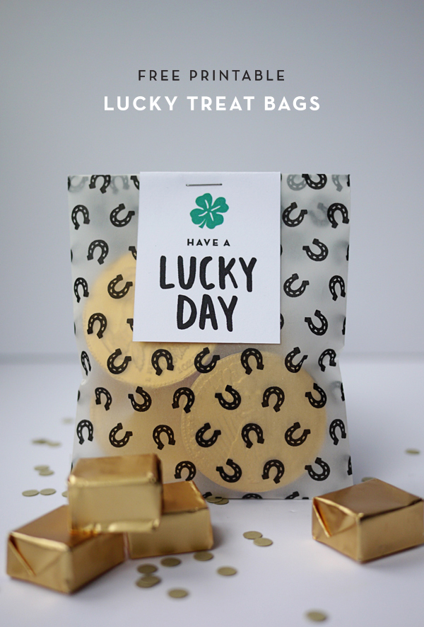 Free Printable Lucky Treat Bags | Oh Happy Day!