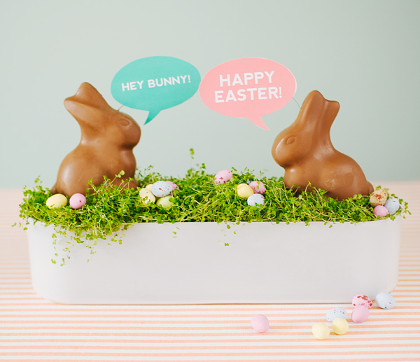 DIY Conversation Bunnies | Oh Happy Day!