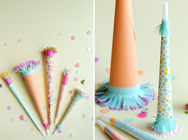 Pretty Paper Party Horns DIY | Oh Happy Day!