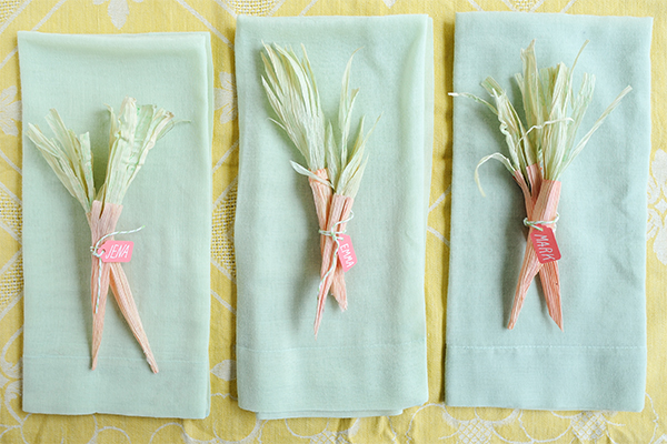 Corn Husk Carrots DIY | Oh Happy Day!