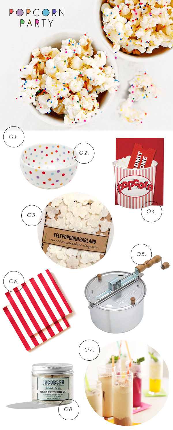 A Popcorn Party | Oh Happy Day!