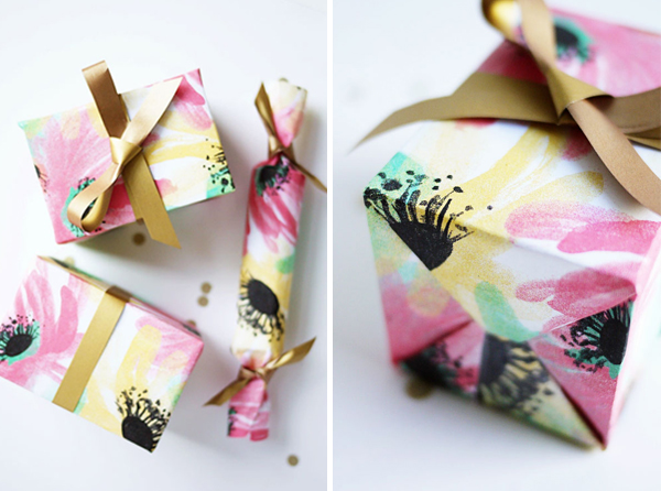 Printable Floral Gift Wrap | Oh Happy Day!