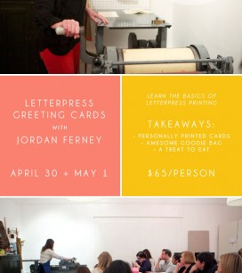 Letterpress Craft Night | Oh Happy Day!