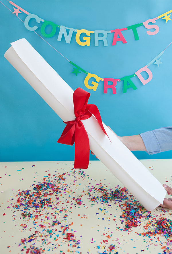 Giant Diploma Graduation Gift DIY | Oh Happy Day!
