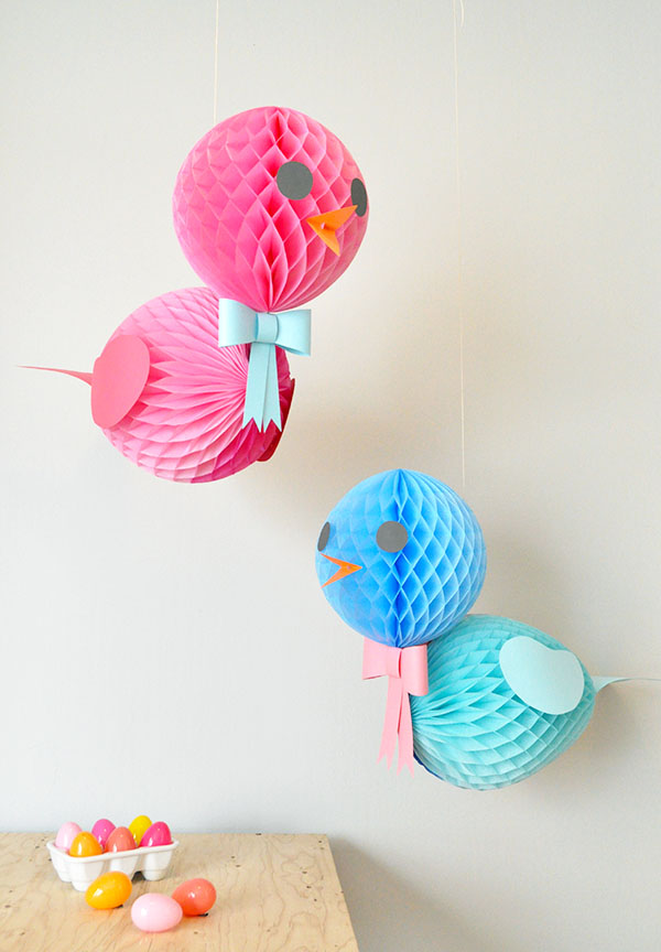 DIY Honeycomb Birds | Oh Happy Day!