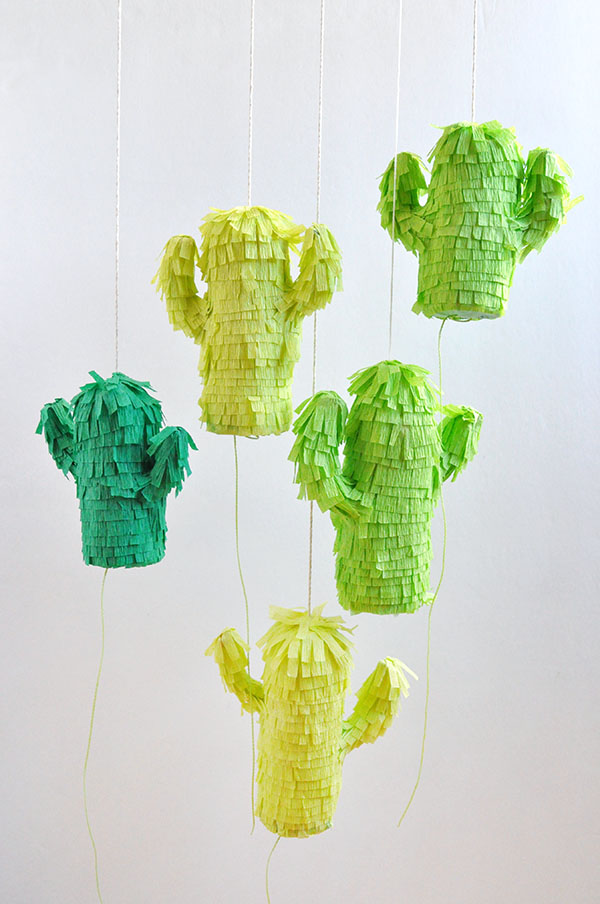 Mini Cactus Piñatas | Oh Happy Day!