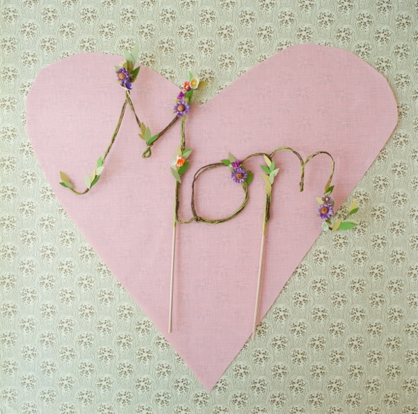 Floral Mom Cake Topper DIY   Oh Happy Day!