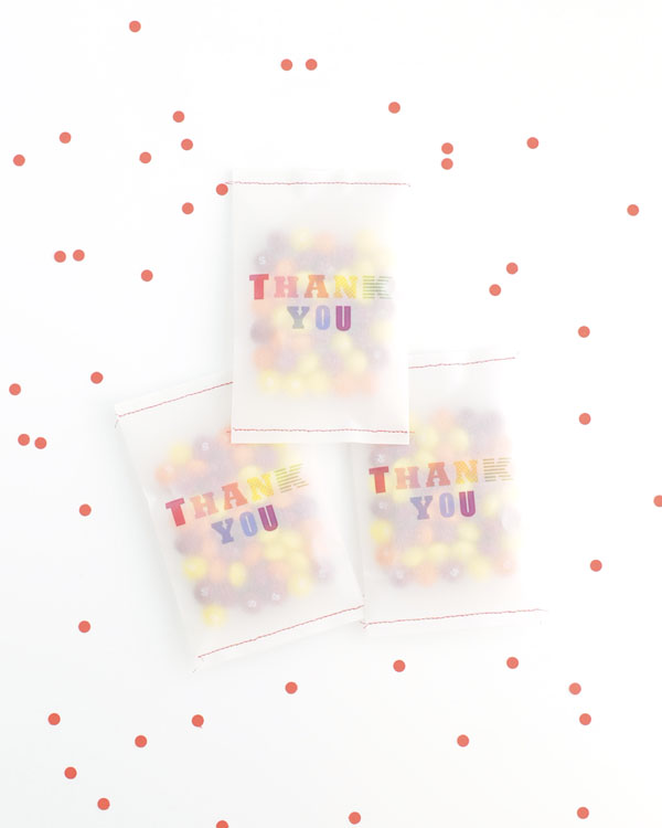 graphic about Printable Vellum named Vellum Thank Your self Bag Printable