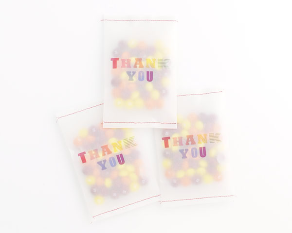 image about Printable Vellum named Vellum Thank On your own Bag Printable