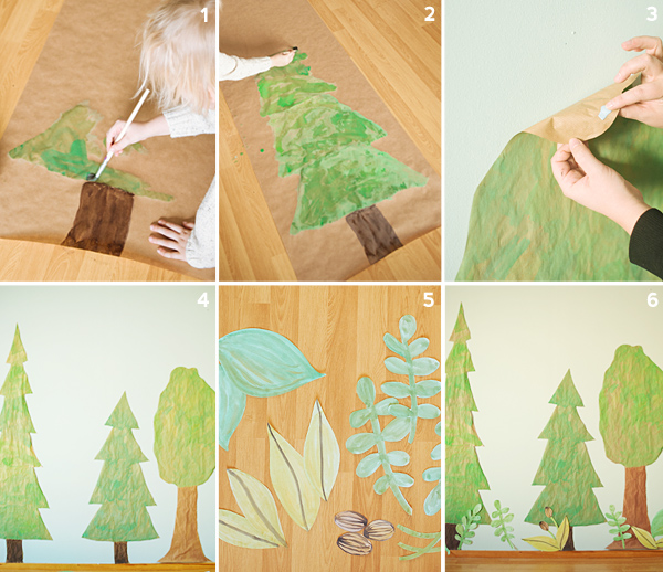A DIY Woodland Backdrop | Oh Happy Day!