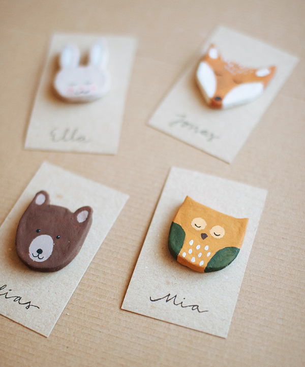 DIY Woodland Creature Favors   Oh Happy Day!