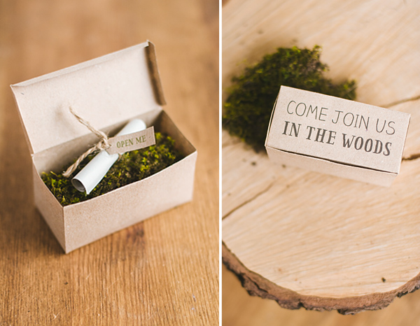 DIY Woodland Party Invitation