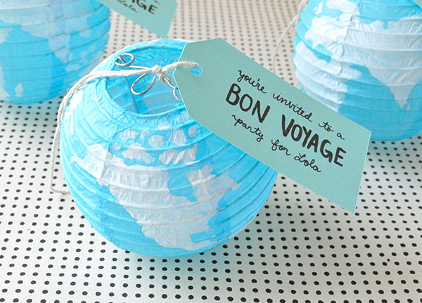 Bon Voyage Party Invitations | Oh Happy Day!