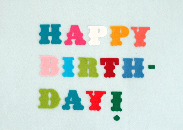 Felt Birthday Banner DIY | Oh Happy Day!