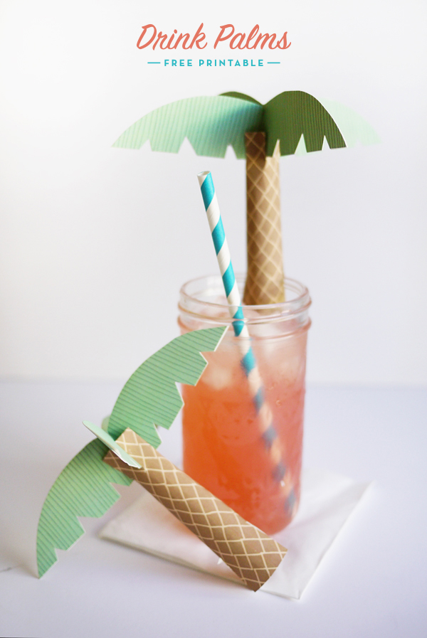 Printable Drink Palms   Oh Happy Day!