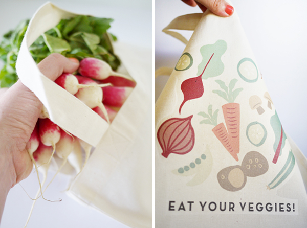 Iron-On Veggie Bags | Oh Happy Day!
