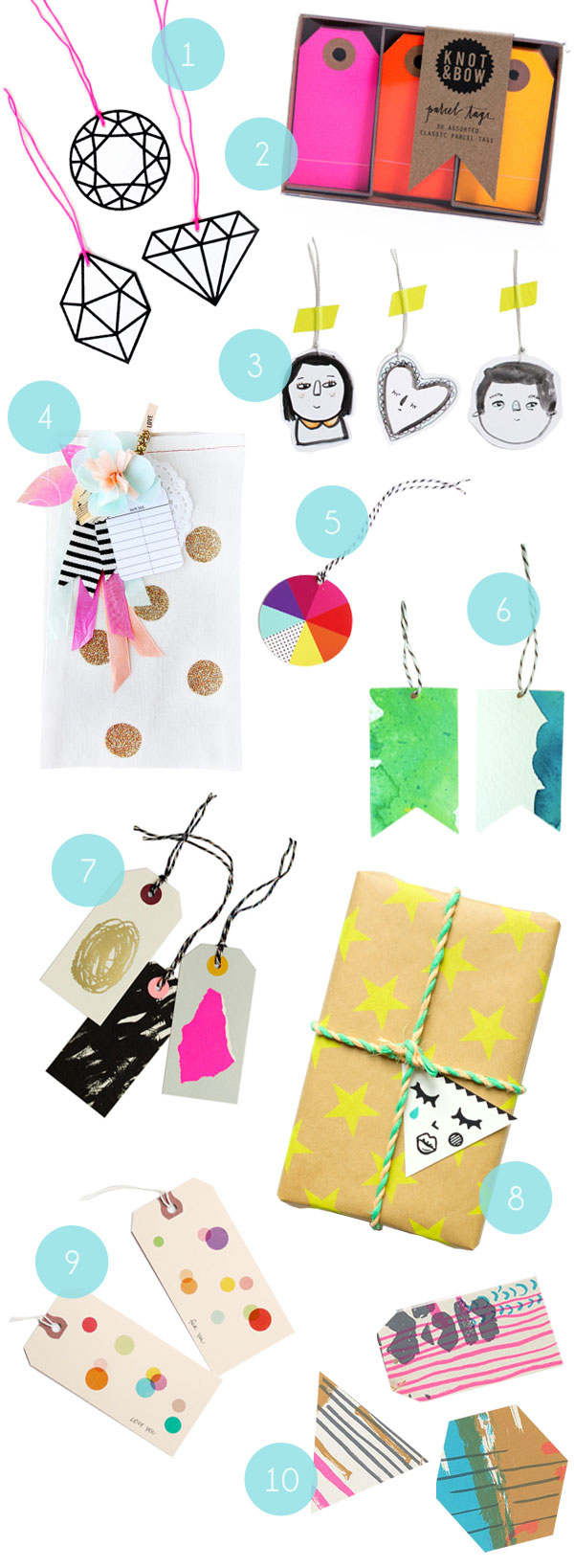 Gift Tag Inspiration   Oh Happy Day!