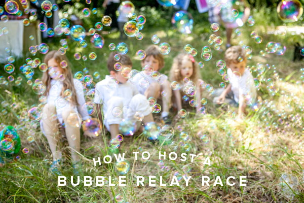 bubble relay race oh happy day