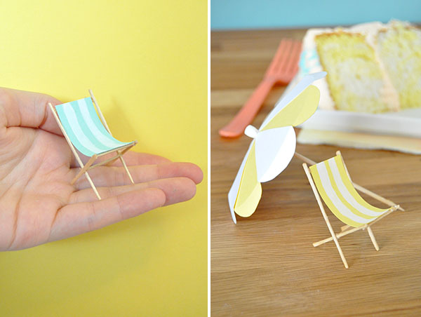 miniature beach chair and umbrella 2