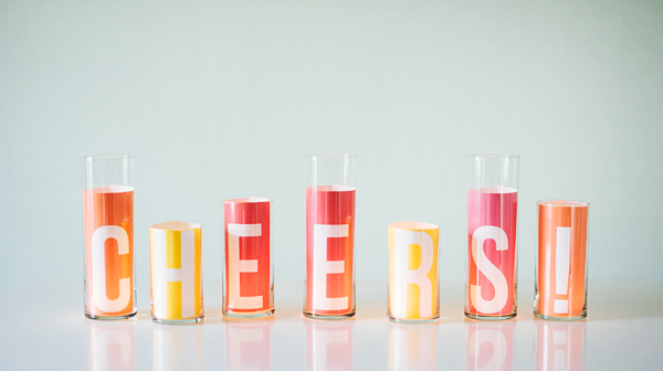 DIY Message Candle Centerpieces | Oh Happy Day!