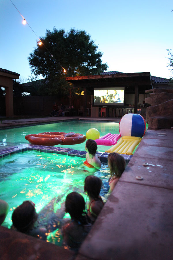 How to Host a Pool Party Movie Night | Oh Happy Day!