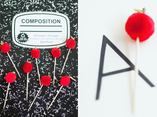 Back to School Apple Cupcake Toppers DIY | Oh Happy Day!