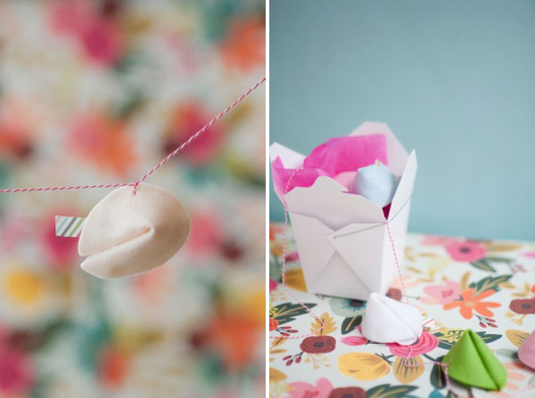 Felt Fortune Cookie Garland DIY | Oh Happy Day!