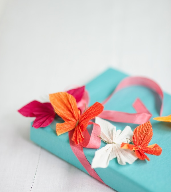 Crepe Paper Butterflies DIY | Oh Happy Day!
