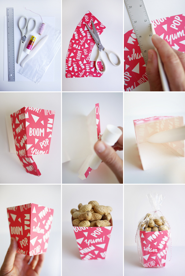 Printable Peanut Boxes | Oh Happy Day!