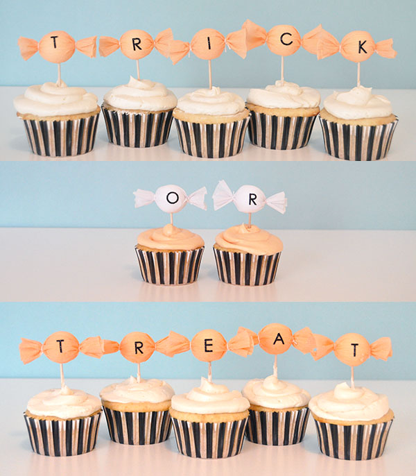 Halloween Cupcake Toppers | Oh Happy Day!