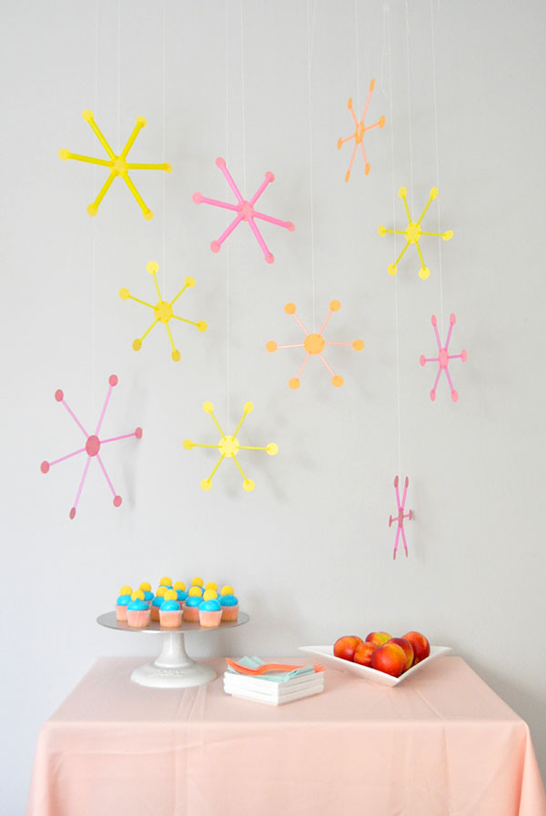 Mid Century Straw Decor | Oh Happy Day!