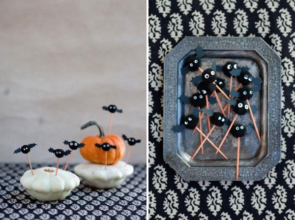 Pom Pom Bat Cupcake Toppers DIY   Oh Happy Day!