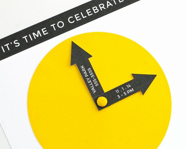 Party Clock Invitation DIY   Oh Happy Day!