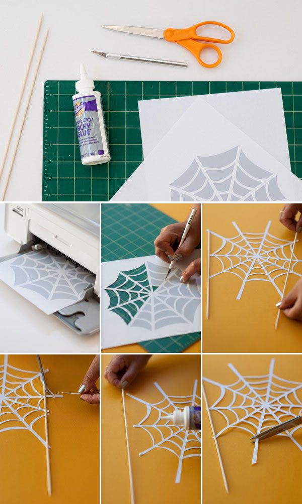 Spider Web Cake Topper DIY | Oh Happy Day!