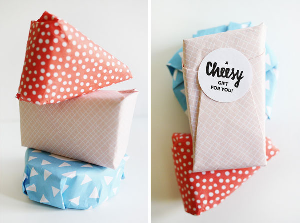 Printable Cheesy Gift Wrap | Oh Happy Day!