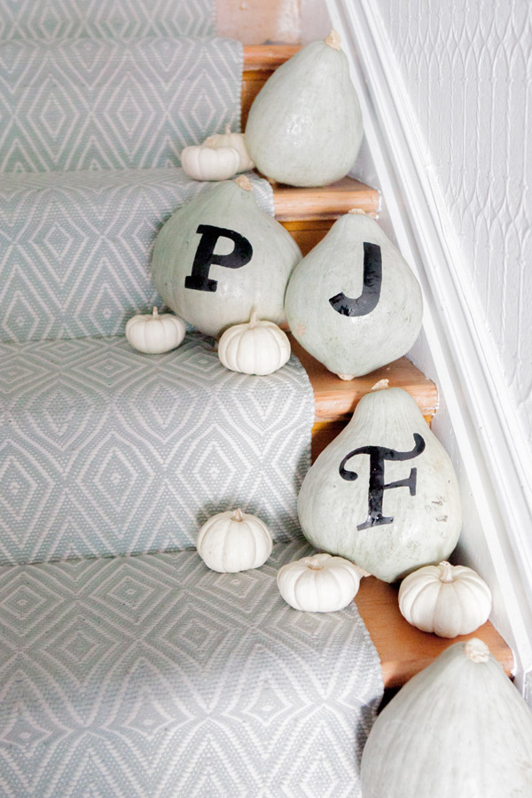 DIY Typography Pumpkins | Oh Happy Day!